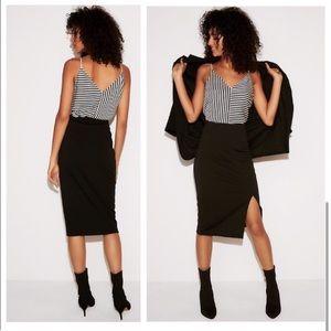 Express Barcelona stripe cami reversible blouse